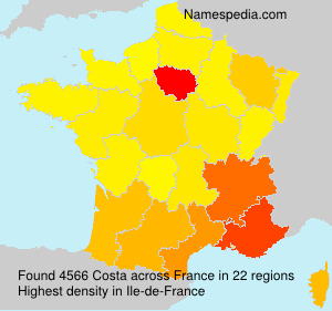 Surname Costa in France