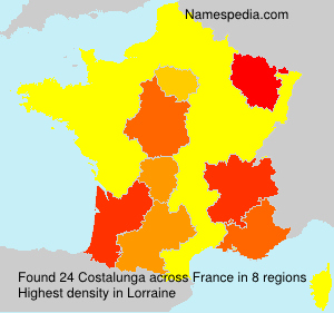 Surname Costalunga in France