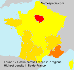 Surname Costin in France