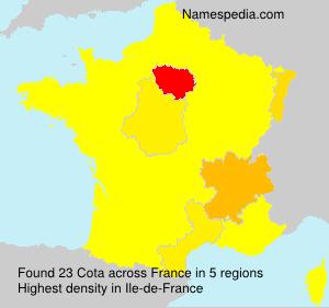Familiennamen Cota - France