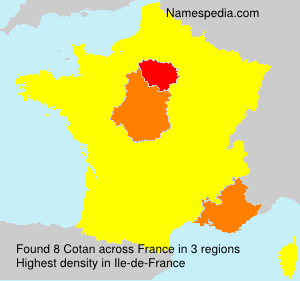 Familiennamen Cotan - France