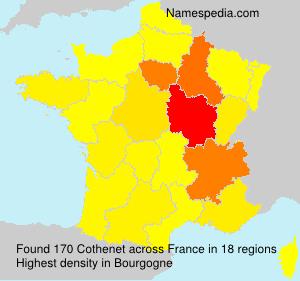 Surname Cothenet in France