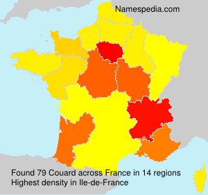 Surname Couard in France