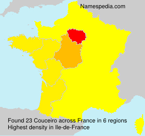 Surname Couceiro in France