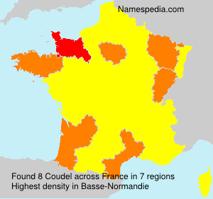 Familiennamen Coudel - France