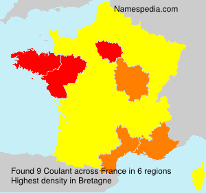 Surname Coulant in France