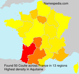Surname Coulie in France