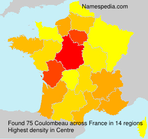 Surname Coulombeau in France