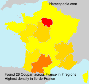 Surname Coupan in France