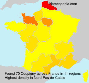Surname Coupigny in France