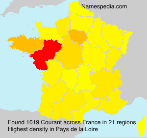 Surname Courant in France