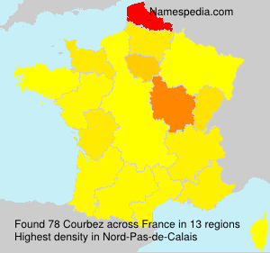 Surname Courbez in France
