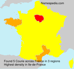 Surname Courie in France
