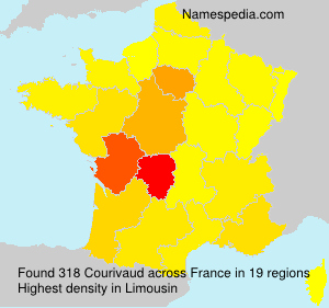 Surname Courivaud in France
