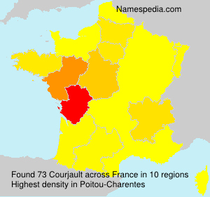 Surname Courjault in France