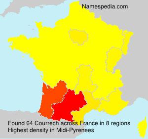 Familiennamen Courrech - France