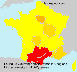 Surname Courrent in France