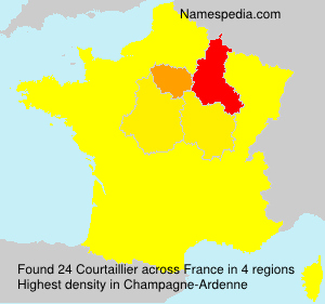 Surname Courtaillier in France