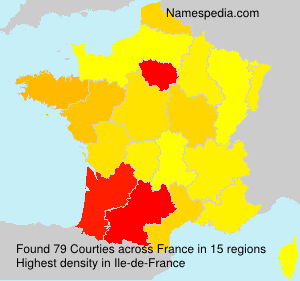 Surname Courties in France