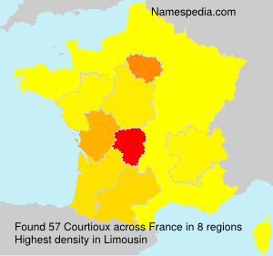 Surname Courtioux in France