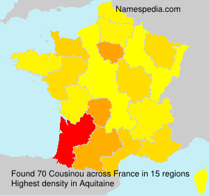 Surname Cousinou in France