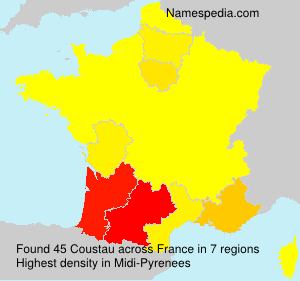 Surname Coustau in France