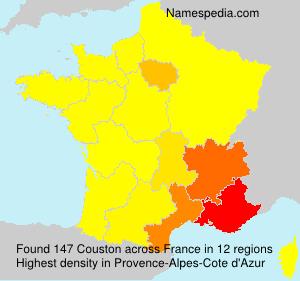 Familiennamen Couston - France