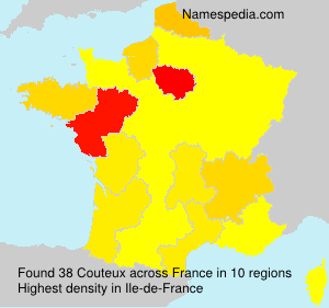 Surname Couteux in France