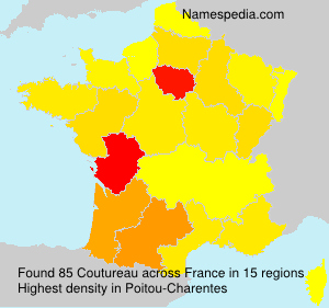 Surname Coutureau in France