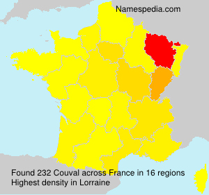 Surname Couval in France