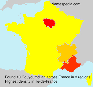 Surname Couyoumdjian in France