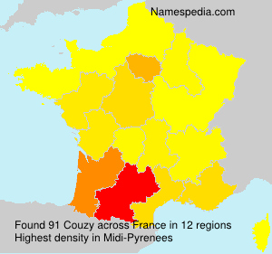 Surname Couzy in France