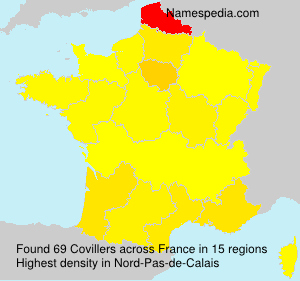 Surname Covillers in France