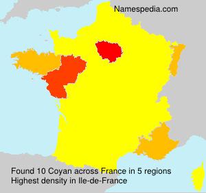 Surname Coyan in France