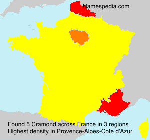 Surname Cramond in France