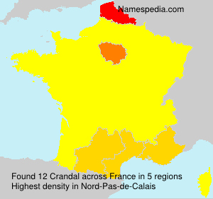 Surname Crandal in France