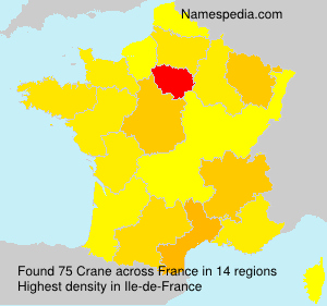 Surname Crane in France