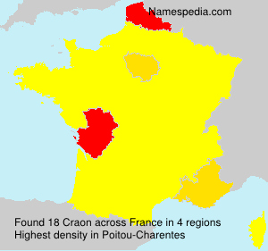 Surname Craon in France