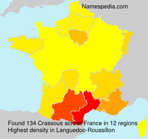Surname Crassous in France