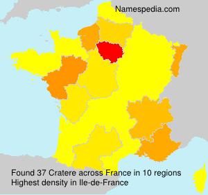Familiennamen Cratere - France