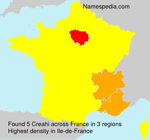 Surname Creahi in France