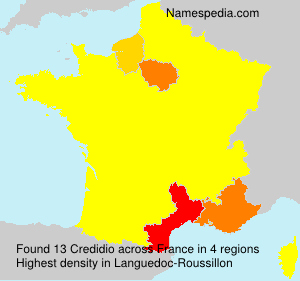 Surname Credidio in France