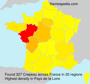 Surname Crepeau in France