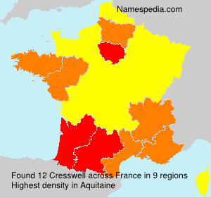Surname Cresswell in France