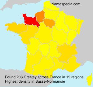 Surname Crestey in France