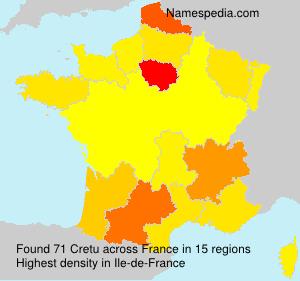 Surname Cretu in France