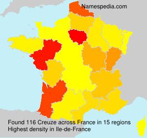 Familiennamen Creuze - France