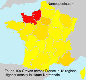 Surname Crevon in France
