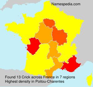 Familiennamen Crick - France
