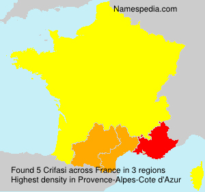 Surname Crifasi in France